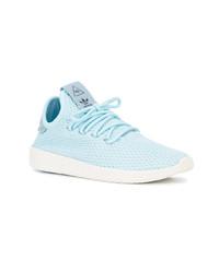 Chaussures de sport bleu clair Adidas By Pharrell Williams