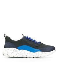 Chaussures de sport bleu marine et blanc Bally