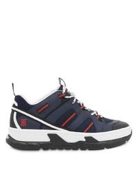 Chaussures de sport bleu marine et blanc Burberry