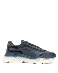 Chaussures de sport bleu marine et blanc Dolce & Gabbana