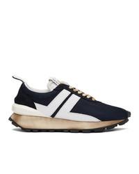 Chaussures de sport bleu marine et blanc Lanvin