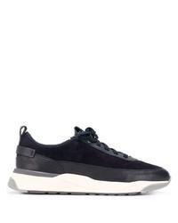 Chaussures de sport bleu marine et blanc Santoni