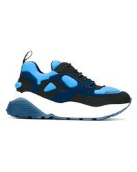 Chaussures de sport bleu marine et blanc Stella McCartney