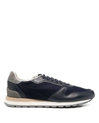 Chaussures de sport bleu marine Brunello Cucinelli