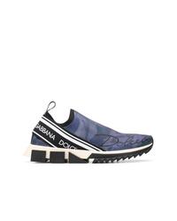Chaussures de sport bleu marine Dolce & Gabbana