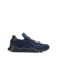 Chaussures de sport bleu marine Fendi
