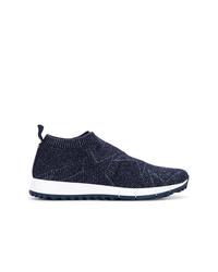 Chaussures de sport bleu marine Jimmy Choo