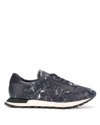 Chaussures de sport bleu marine Maison Margiela