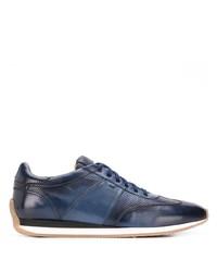 Chaussures de sport bleu marine Santoni