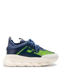 Chaussures de sport bleu marine Versace