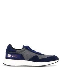 Chaussures de sport bleu marine Z Zegna