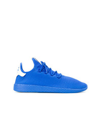 Chaussures de sport bleues Adidas By Pharrell Williams