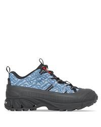 Chaussures de sport bleues Burberry