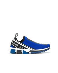 Chaussures de sport bleues Dolce & Gabbana