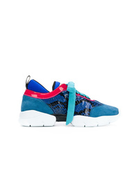 Chaussures de sport bleues Emilio Pucci