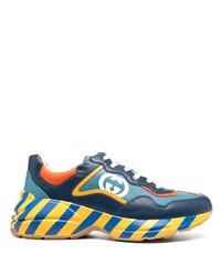 Chaussures de sport bleues Gucci
