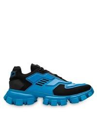 Chaussures de sport bleues Prada