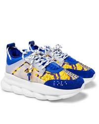 Chaussures de sport bleues Versace