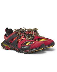 Chaussures de sport bordeaux Balenciaga