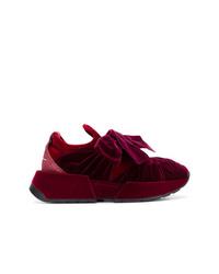 Chaussures de sport bordeaux MM6 MAISON MARGIELA
