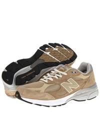 Chaussures de sport brunes claires New Balance