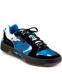 Chaussures de sport camouflage bleues