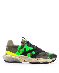 Chaussures de sport camouflage multicolores Valentino