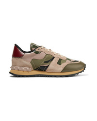 Chaussures de sport camouflage olive Valentino