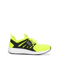 Chaussures de sport chartreuses Ea7 Emporio Armani