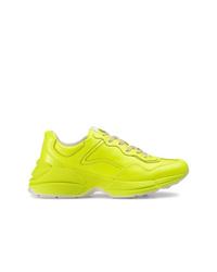 Chaussures de sport chartreuses Gucci