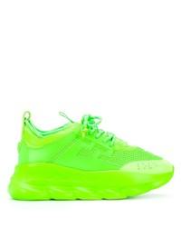 Chaussures de sport chartreuses Versace