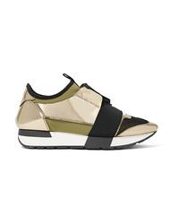 Chaussures de sport dorées Balenciaga