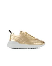 Chaussures de sport dorées Tod's