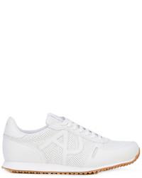 Chaussures de sport en cuir blanches Armani Jeans