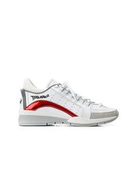 Chaussures de sport en cuir blanches DSQUARED2