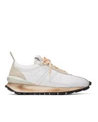 Chaussures de sport en cuir blanches Lanvin