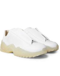 Chaussures de sport en cuir blanches Maison Margiela