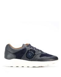 Chaussures de sport en cuir bleu marine Billionaire
