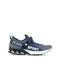 Chaussures de sport en cuir bleues