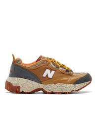 Chaussures de sport en cuir marron New Balance