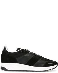 Chaussures de sport en cuir noires AMI Alexandre Mattiussi