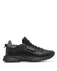 Chaussures de sport en cuir noires Givenchy