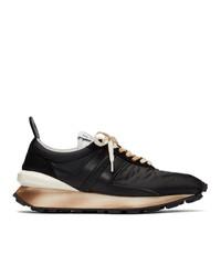 Chaussures de sport en cuir noires Lanvin