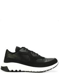 Chaussures de sport en cuir noires Neil Barrett
