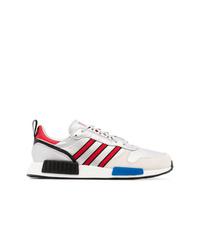 Chaussures de sport en daim argentées adidas