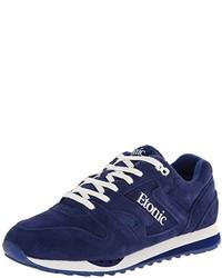Chaussures de sport en daim bleu marine