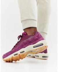 Chaussures de sport en daim bordeaux