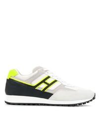 Chaussures de sport en daim grises Hogan