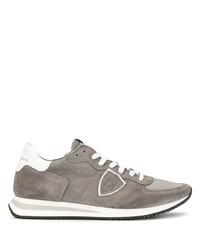 Chaussures de sport en daim grises Philippe Model