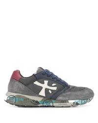 Chaussures de sport en daim grises Premiata
